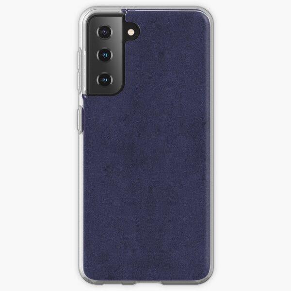 Very dark desaturated blue & Purple Solid with texture Samsung Galaxy Soft Case