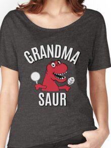 GRANDMA SAUR SMILE DINOSAUR Women's Relaxed Fit T-Shirt