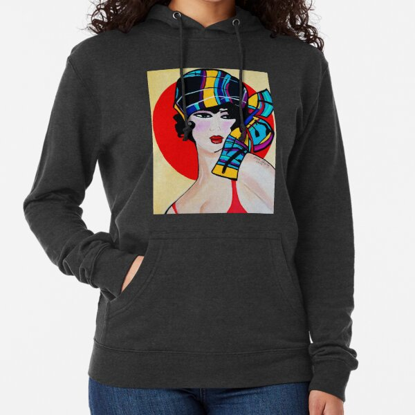 NEW 1920`S ART DECO  GIRL WITH HAT   ANNA Lightweight Hoodie