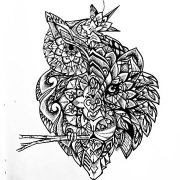 Henna Owl Pattern by FrodoShields
