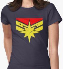 Distressed Super Heroine Tailliertes T-Shirt für Frauen