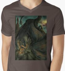 Hungarian horntail - No text version Mens V-Neck T-Shirt