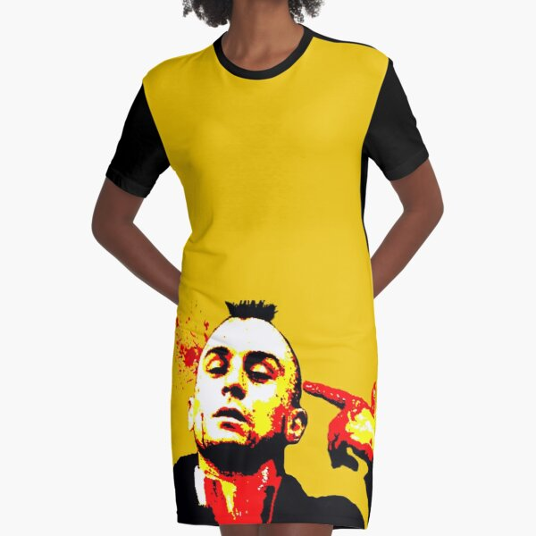 Taxi Driver Graphic T-Shirt Dress