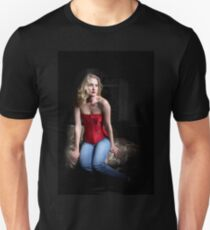 Sexy Blond Sitting Unisex T-Shirt
