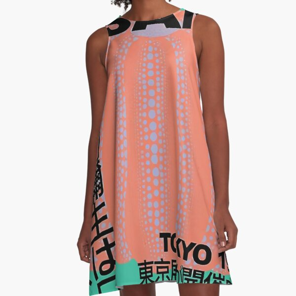 Green Yayoi Kusama A-Line Dress