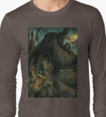 Hungarian horntail - With text version Long Sleeve T-Shirt