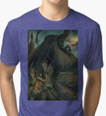 Hungarian horntail - With text version Tri-blend T-Shirt