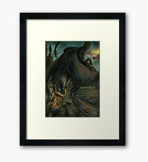 Hungarian horntail - With text version Framed Print