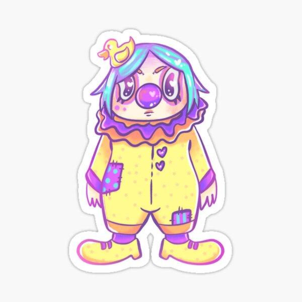 Clown gal Sticker