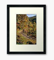 Broken Fence Rail on Quabbin Trail Framed Print