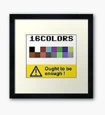 COMMODORE 64 Color Palette Framed Print