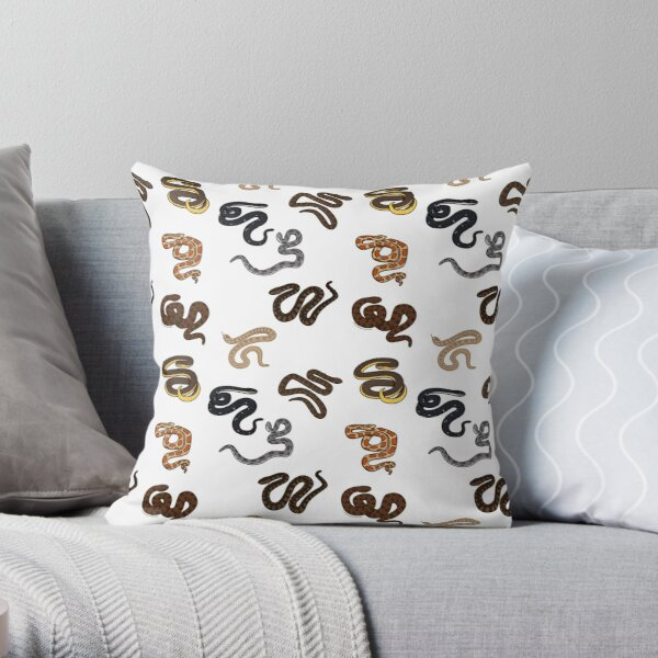 Snake Print Throw Pillow