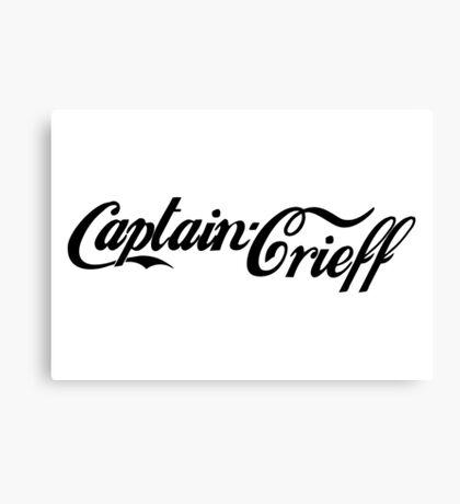 Captain Crieff (Black Version) Canvas Print
