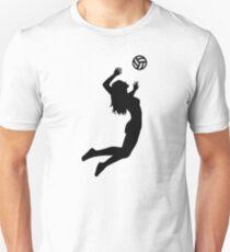 Volleyball jumping girl woman Unisex T-Shirt