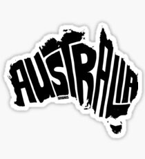 Australia Black Sticker