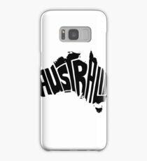 Australia Black Samsung Galaxy Case/Skin