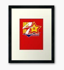 Automotive Car Art, Fictional Petrol fuel logo Framed Print