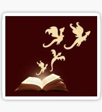 Book Dragons Sticker