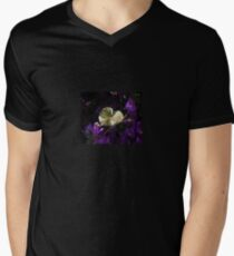 A Heart of Gold Leaf of Morning Glory Mens V-Neck T-Shirt