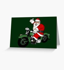 Biker Santa Claus  Greeting Card