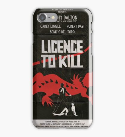 Licence To Kill iPhone Case/Skin