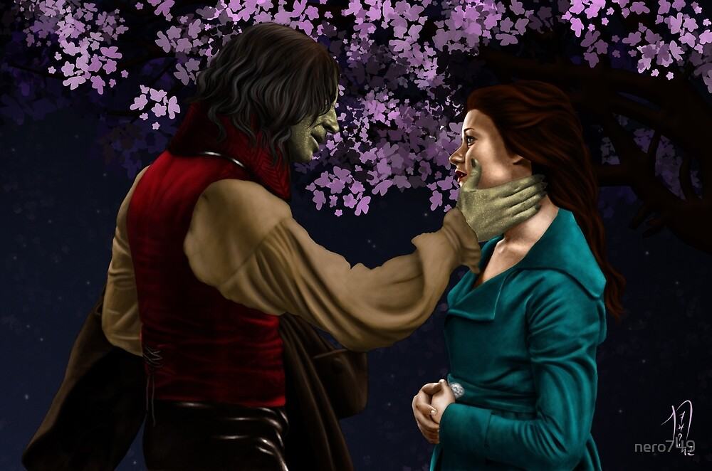 Rumpelstiltskin and Belle by nero749