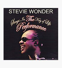 Stevie Wonder - Songs In The Key Of Life Performance Photographic Print