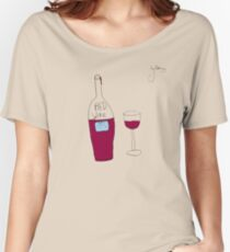 by Bethany - RED wine Women's Relaxed Fit T-Shirt