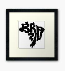 Brazil Black Framed Print