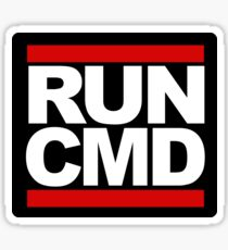 RUN CMD Sticker