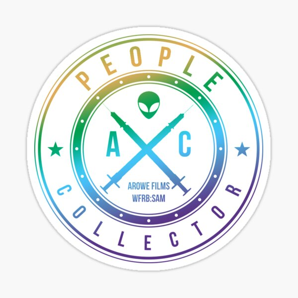 People Collector Shield Sticker
