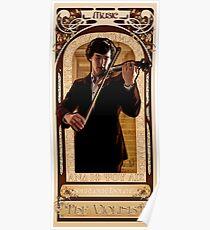 Art Nouveau Sherlock: The Violinist Poster