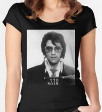 Elvis - Mug Shot Women's Fitted Scoop T-Shirt
