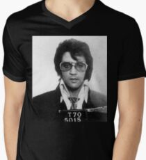 Elvis - Mug Shot Men's V-Neck T-Shirt