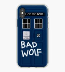 Police Public Call Box (w/ Bad Wolf) iPhone Case