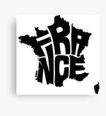 France Black Canvas Print