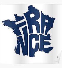 France Blue Poster