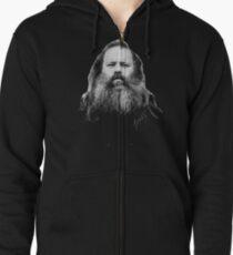Rick Rubin - DEF JAM shirt Zipped Hoodie
