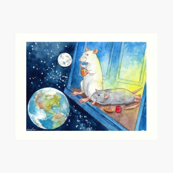 Ratties' Cosmic Cup of Tea Art Print