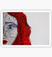 Red haired woman Sticker