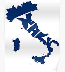 Italy Blue Poster