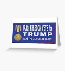 Iraqi Freedom Vets For Trump Greeting Card