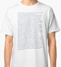 Jacksepticeye All The Way Lyrics Classic T-Shirt