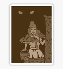 Little red riding hood vintage Sticker