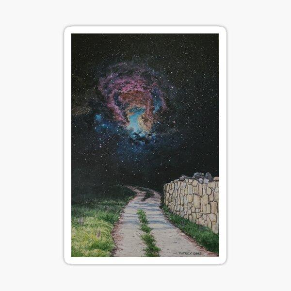 Cosmic path Sticker
