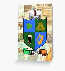 Coat Of Arms - Ireland - Shield and Sword Greeting Card