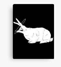 Hillary White Rabbit Canvas Print