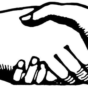Vintage Handshake Hands Illustration by hiway9