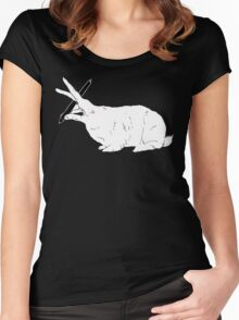Hillary White Rabbit Women's Fitted Scoop T-Shirt