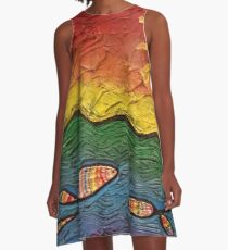 Rainbow Fish A-Line Dress